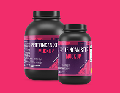 4 Protein Canister Mock Ups
