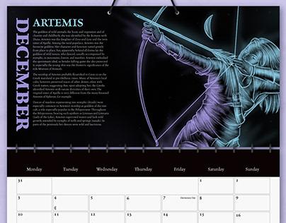 Greek Gods Calendar Mockups
