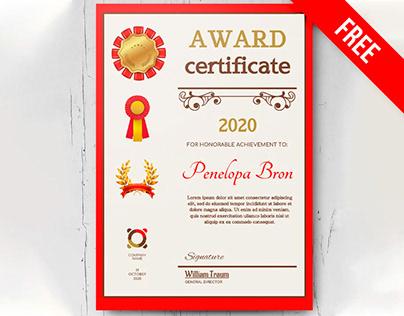Award Certificate - free Google Docs Template