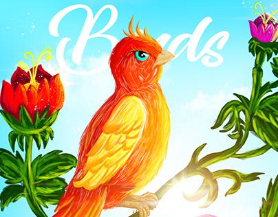 Birds Digital Painting