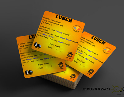 Food ticket design for Iranian programming competitions