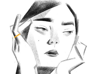 Jewelry editorial illustration