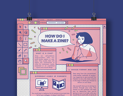 How Do I Make A Zine? Infographic - Student Work