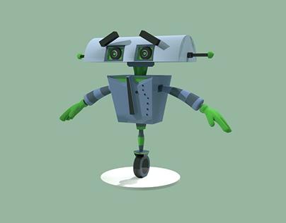 Robot 9001 modeling Cinema 4D