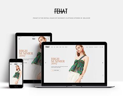 FEHAT - Fashion E-commerce Website - UI Concept
