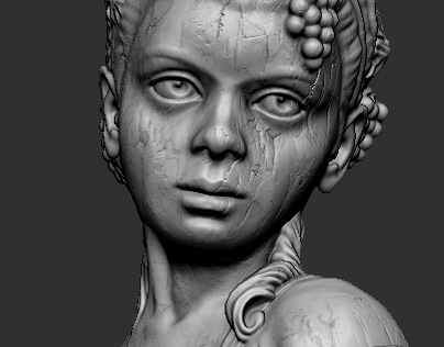 Zbrush sculpt of a girl