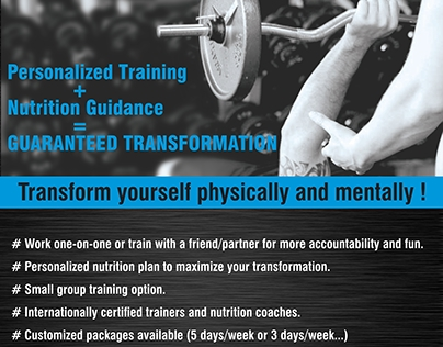 Poster for personal trainer