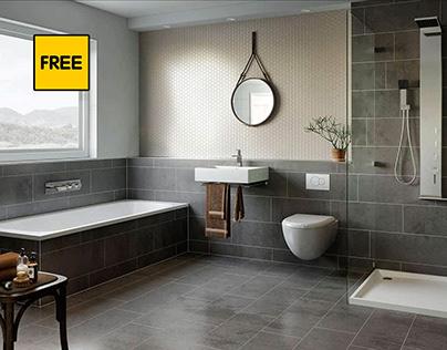 Free Scene-The Bathroom Gray From Region Studio