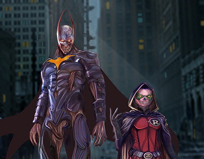 Batman Zombie and Zombie Robin
