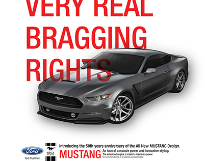 Ford Mustang 50th Years Infographic & poster