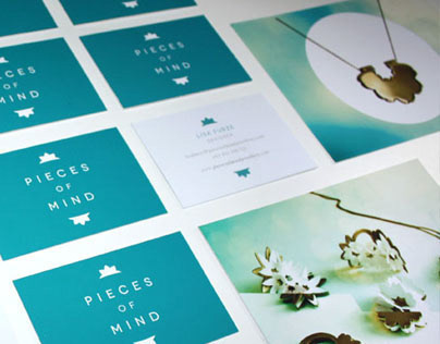 Pieces of Mind jewellery design and branding