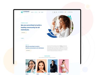 Cygnus Clinic - Health Tourism - Estetic UI Web Design