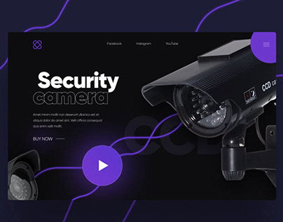 "Landing page - UX/UI - design ""Security camera"""