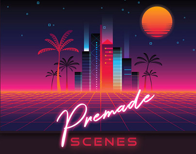 1980s Synthwave Toolkit By:Polar Vectors