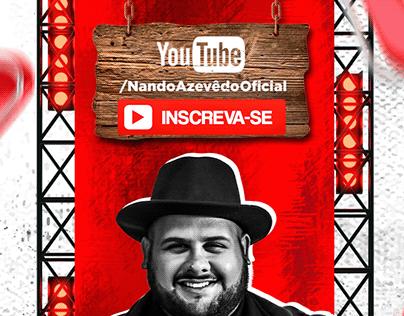 Flyer Canal Youtube - Nando Azevêdo