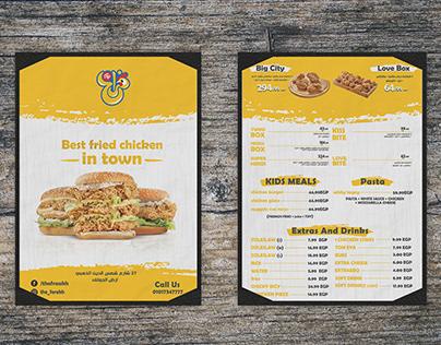 menus (food & beverage)
