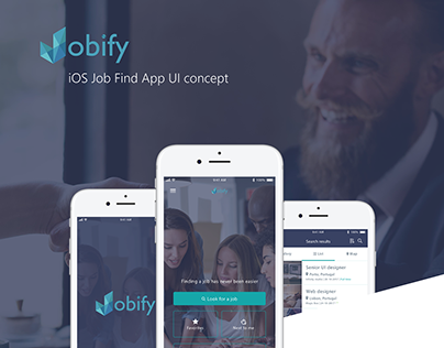 Jobify App UI design