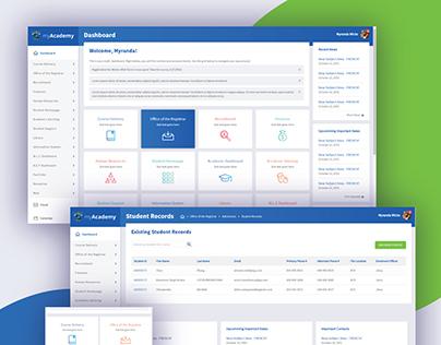 Student Dashboard Interface Design