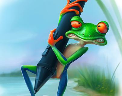 Hard work - Hard for frog