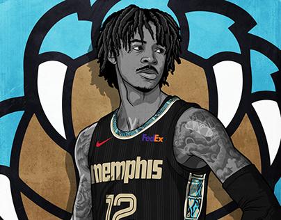2020-2021 NBA City Edition Uniforms Illustrations