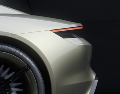 Porsche Mission-E on VRScans triplanar