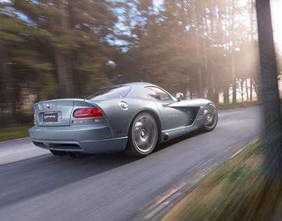 Dodge Viper SRT-10. Full CGI.