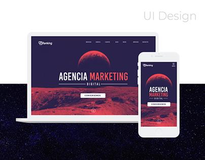 P-Ranking Diseño Web y estilo gráfico de la Marca