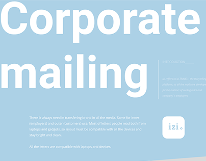 Corporate mail layouts