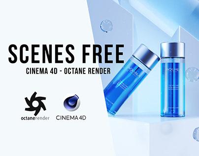 Octane Render - CD4 FREE SCENES BY Oscar creativo