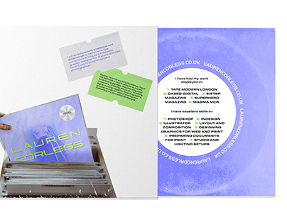 CV for Creative Artworker at Record Label