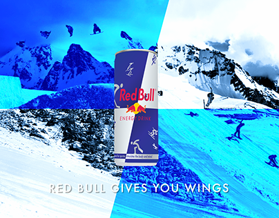 Red Bull Custom packaging and Poster & Abri