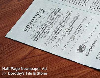 Newspaper Ad for Dorothy's