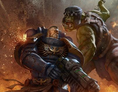 Ork vs Ultramarine