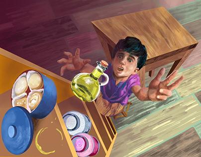 """Ilustração """"A Varinha Justiceira"""""""