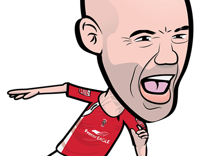 Paul Mullin - Accrington Stanley FLXI - Caricature