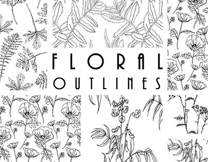 Floral outlines