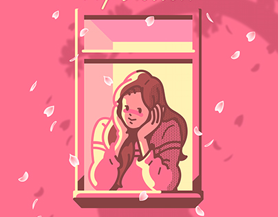 SOYOU-My blossom Album cover illustration.