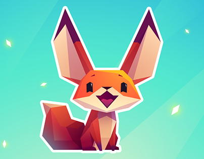 Stickers. The Little Fox