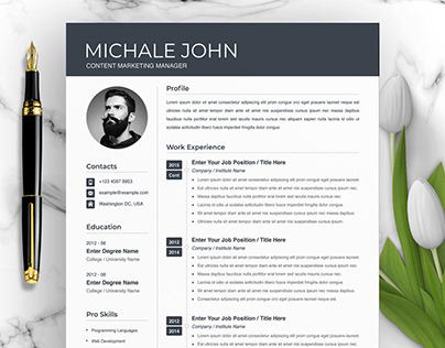 Clean and Simple Resume / CV Design
