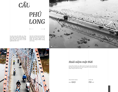 Cầu Phú Long | Landing Page Concept