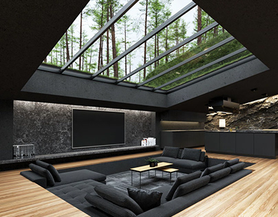 Black villa in Harriman State Park by Reza Mohtashami