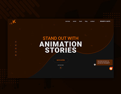 Landing Page UI/UX Design for Animation Studio Website