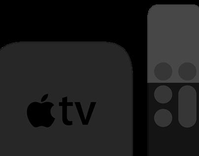 Apple TV 4 Flat Design