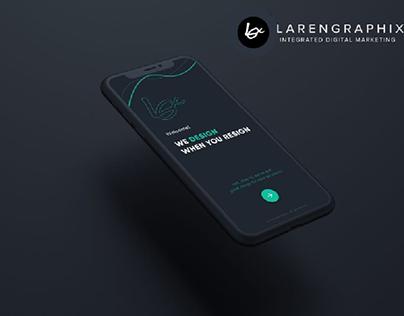 larengraphix Branded UI UX with App advertisement