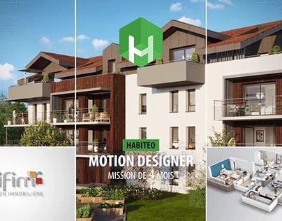 Motion design pour Habiteo
