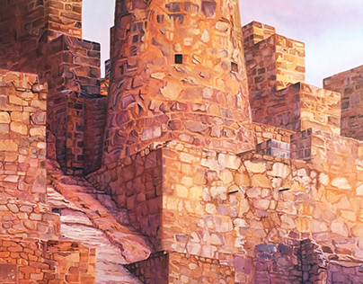 "2018 ""Patrimonio Huanchaca"" 150 x 80 oleo sobre tela"