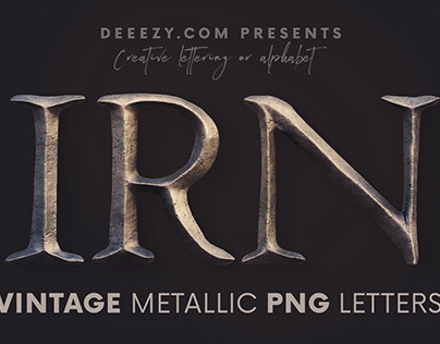 Vintage Metallic - Free 3D Lettering