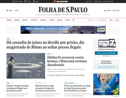 Folha - site responsivo, 2018