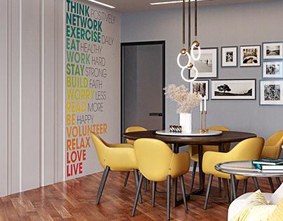 "Render of the living room for""MV arch&design"""