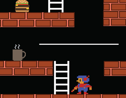 The Hungry Lode Runner- 8bit Style